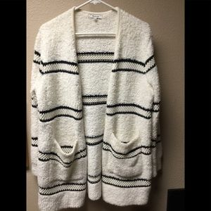 Madewell Boucle Striped Sweater Cardigan